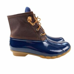 NEW Sperry Saltwater Fleece Lined Duck Boots